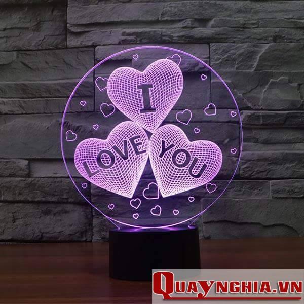 Đèn ngủ tình yêu I LOVE YOU