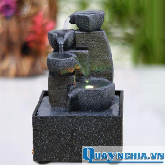 thác nước cối đá để bàn mini